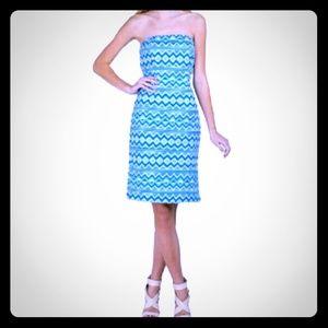 Badgley Mischka Belle strapless dress